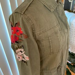 Feminine A NEW DAY Anorak Jacket with Embroidery